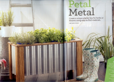 Corrugated Metal Planter Boxes