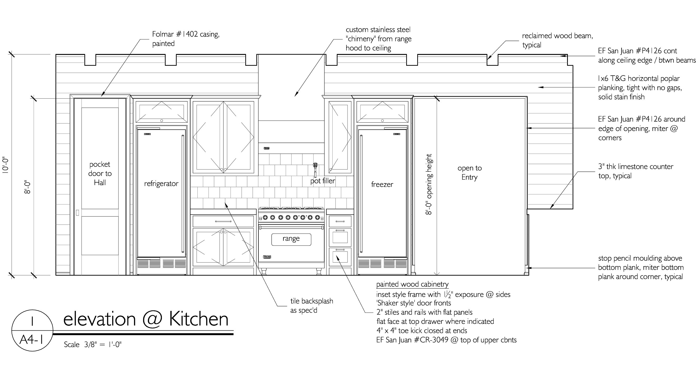 Tracery Interiors  Oh How I Love Interior Elevations What A Glamorous Kitchen Design Drawings Decorating Inspiration