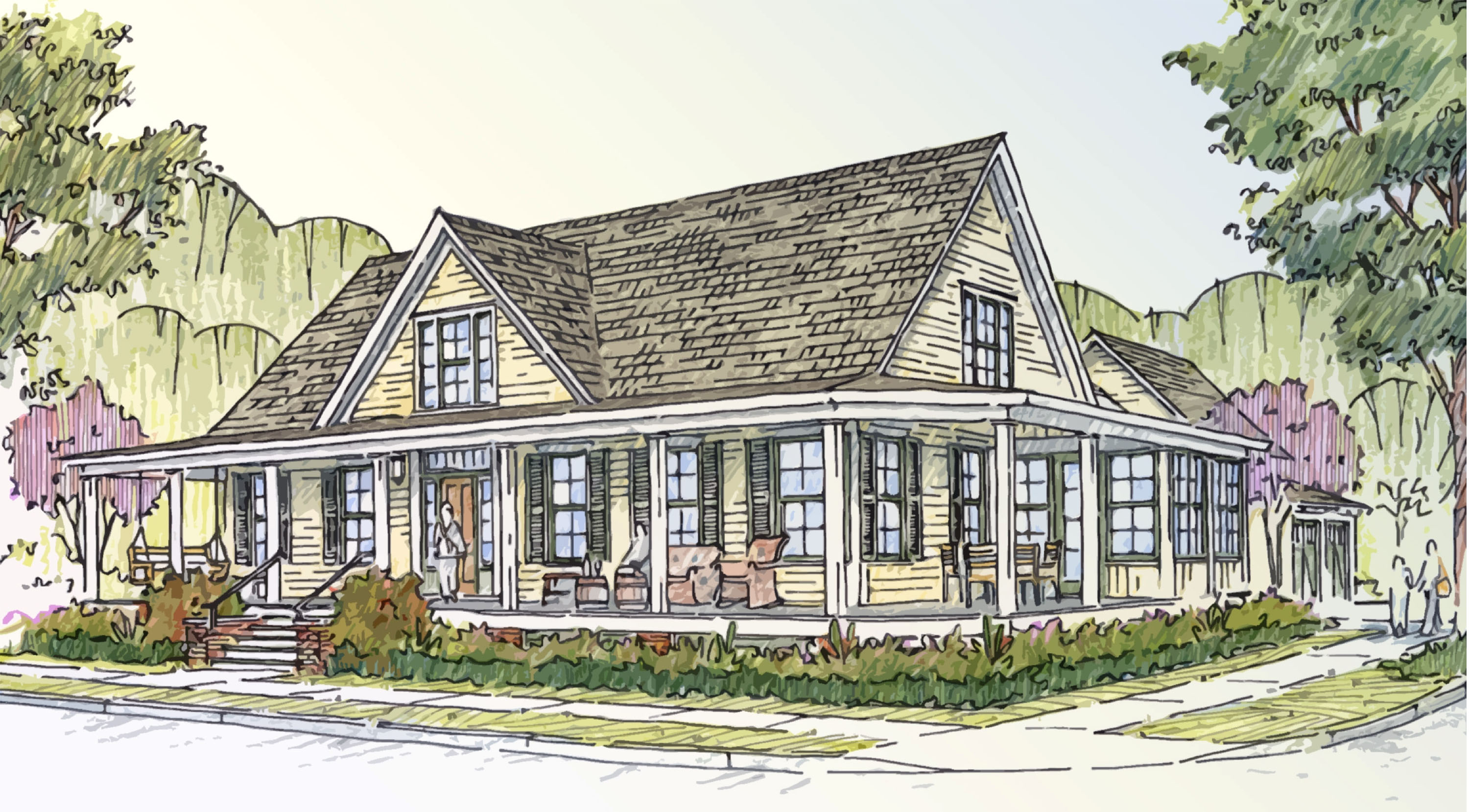 Southern living idea house 2012 our blog for Farm house plans with photos