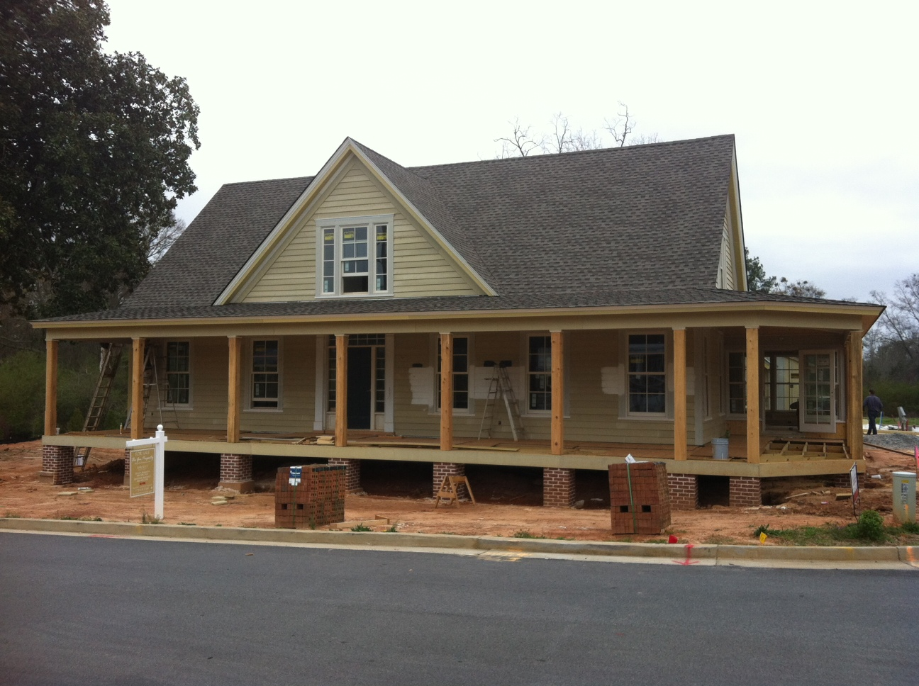 Southern living idea house shaping up our blog for Southern farmhouse