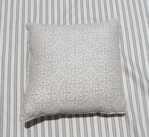 "Tracery Rose Window Pillow 20"" x 20"" $95 with Tracery Fluting Fabric"