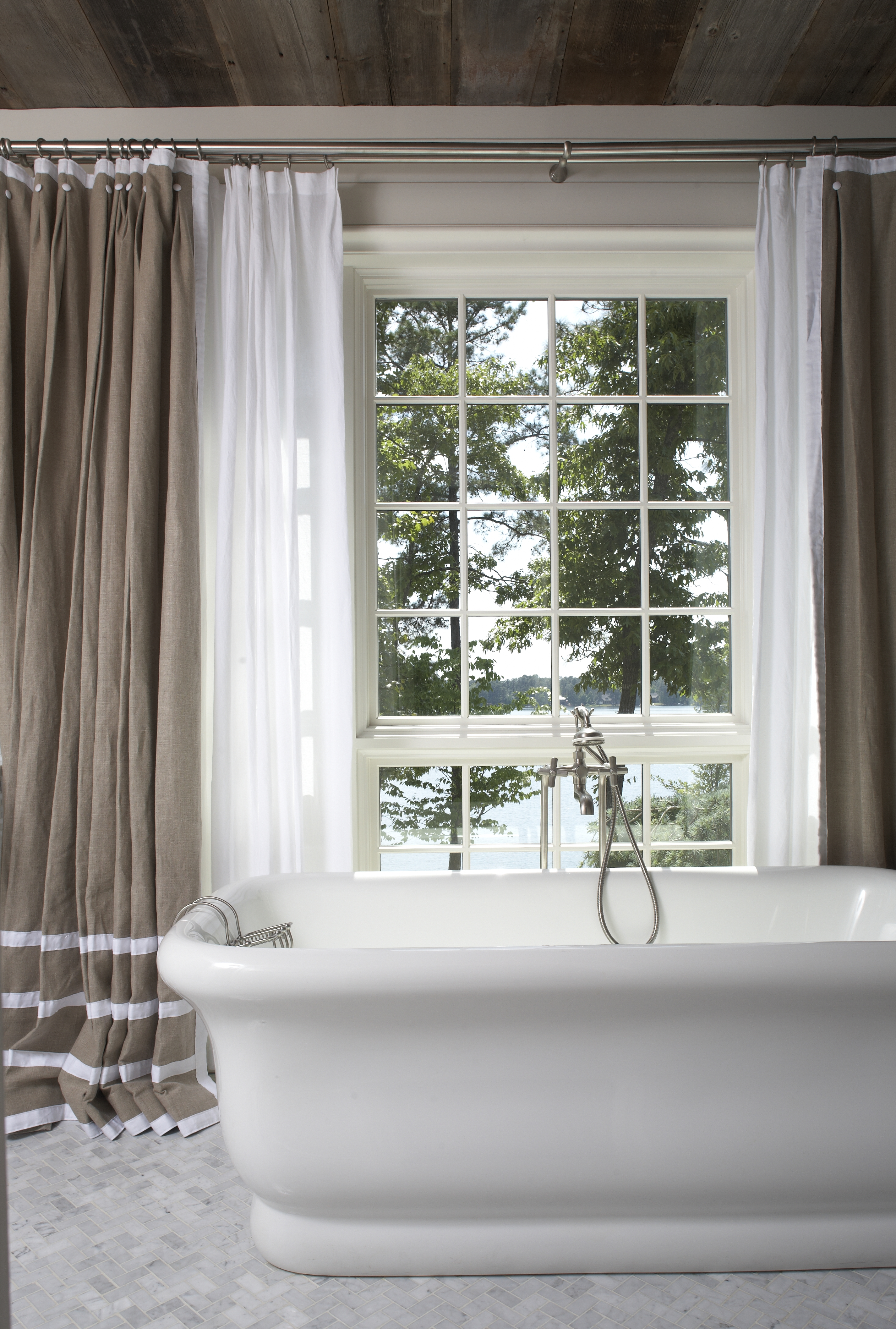 1000 images about draperies long curtains on pinterest - Bathroom curtains window treatments ...