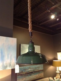 Green Industrial Pendant for $429 at our Rosemary Beach Shop