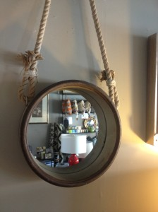 Rusted Round Mirror,  Priced at $102