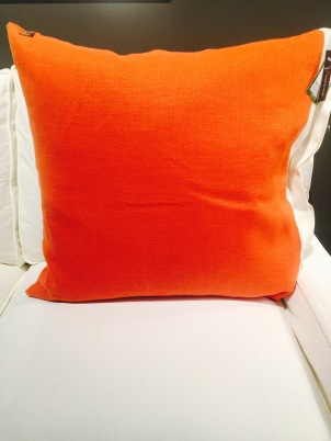Back of Orange Pillow