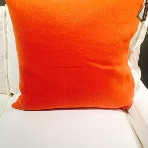 Back of Orange Pillow