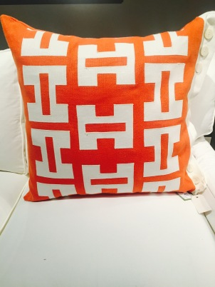 Front of Orange Pillow