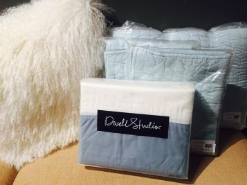 Modern Border (Mist) Duvet Cover & Pale Blue Quilt Set