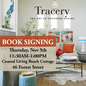 Tracery-Book-Signing-Poster-CLBEACHCOTTAGE